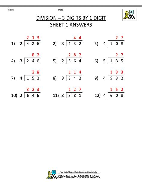 "Search Results for ""3 Digit Division Worksheets 4th Grade ..."