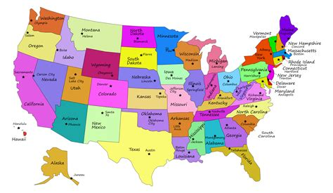 """Search Results for """"50 States And Capitals Map"""" – Calendar ..."""