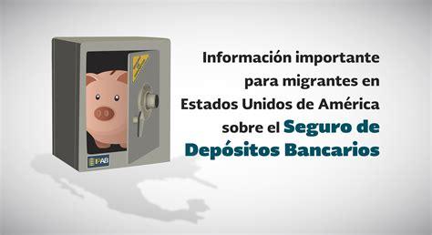 Seguro de Depósitos Bancarios para Migrantes | Instituto ...