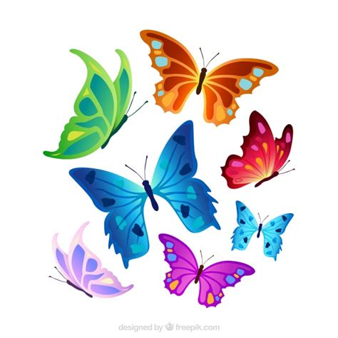 Selección de mariposas coloridas | Descargar Vectores gratis