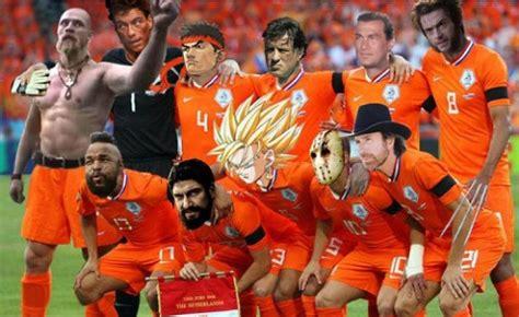 Selección holandesa en la final del Mundial