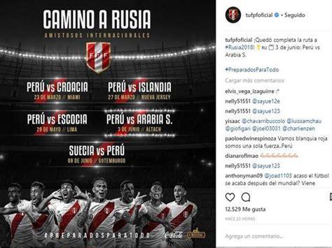 Selección Peruana: fecha, hora y canales de los 4 partidos ...