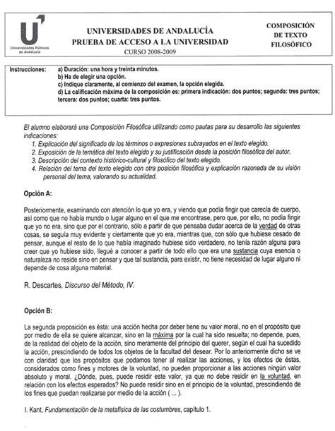 Selectividad 2009: Examen de Filosofía. Ideal