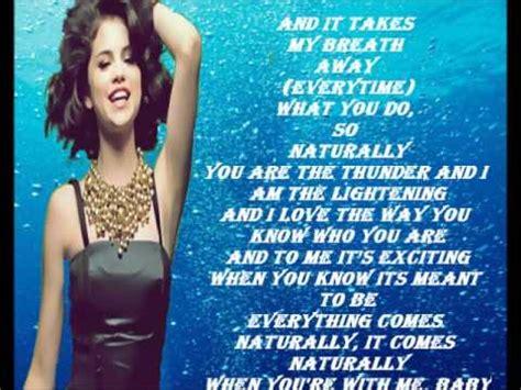 Selena Gomez   Naturally Lyrics   YouTube