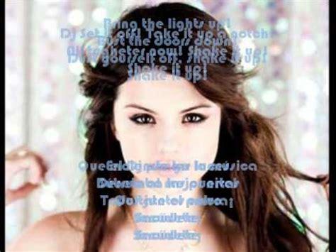 Selena Gomez   Shake it up   Lyrics/Letra   English ...