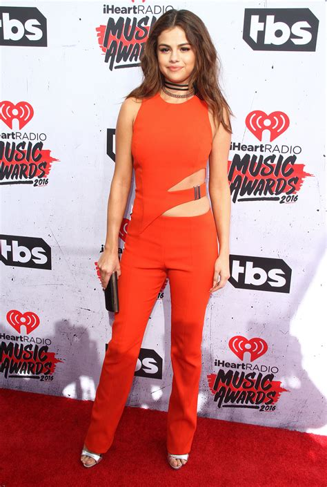 Selena Gomez Wears Buckled Cutout Jumpsuit to iHeartRadio ...