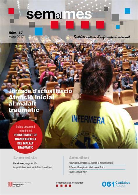 SEM al MES Març 2017 by Sistema d Emergències Mèdiques ...