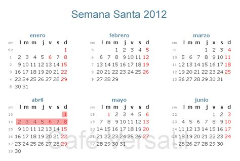 SEMANA SANTA 2012- DATA, CALENDÁRIO ~ Dicas Grátis 2016