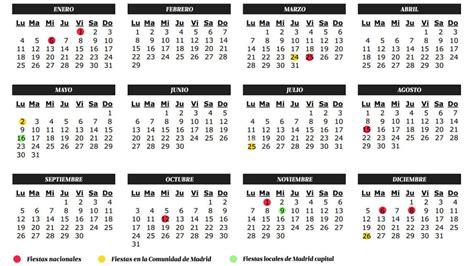 Semana Santa: Calendario escolar de la Comunidad de Madrid ...