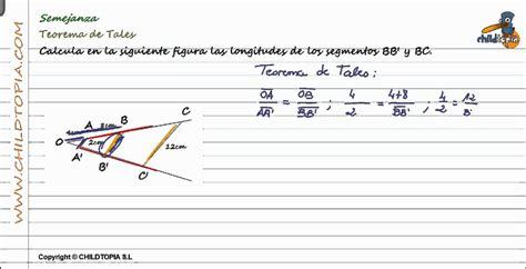 Semejanza: Teorema de Tales. 4º de ESO matemáticas   YouTube