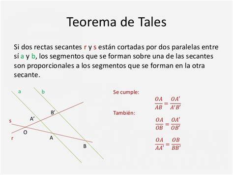 Semejanza: Teorema tales