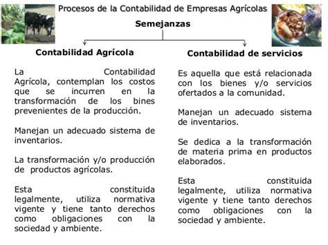 Semejanzas y diferencias empresas agricolas y servicios