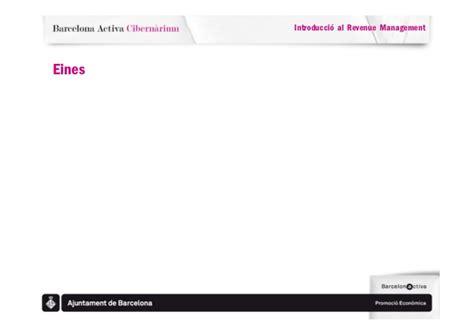 Seminari barcelona activa cibernarium revenue management ...