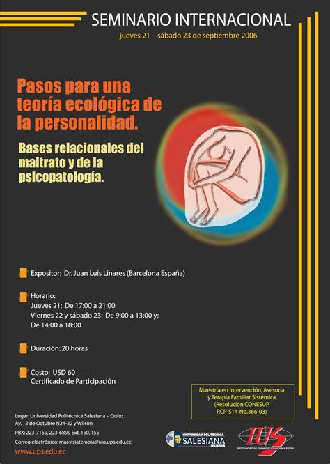 Seminario Internacional de Terapia Sistémica | Psicología ...