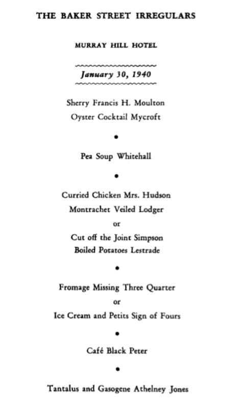 """""""ENTERTAINMENT AND FANTASY"""": THE 1940 DINNER published ..."""