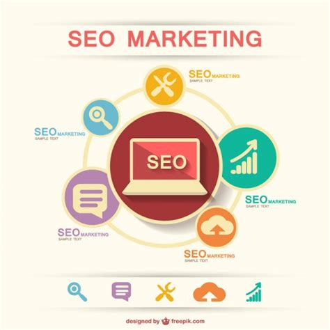 SEO marketing infographic Vector | Free Download