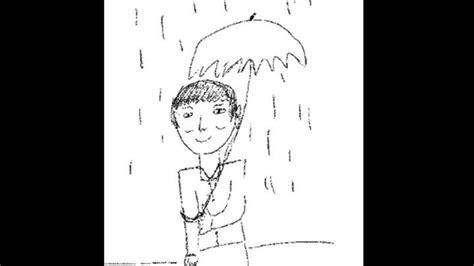 Sepa cómo dibujar a un hombre bajo la lluvia en una ...