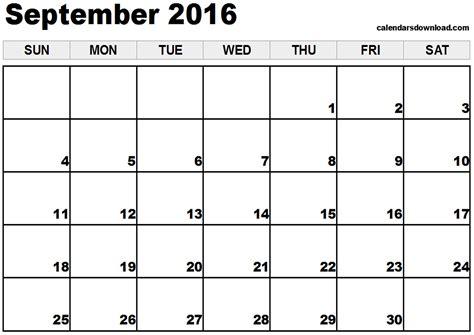 September 2016 Calendar Printable ...