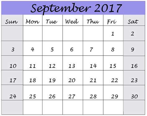 September 2017 Calendar Monthly   Calendar Template Letter ...