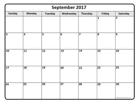 September 2017 calendar * September 2017 calendar printable