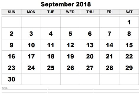 September 2018 Calendar   September 2018 Printable Calendar