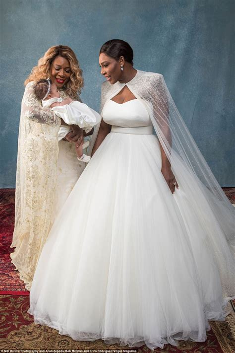 Serena Williams reveals dress after post wedding party ...