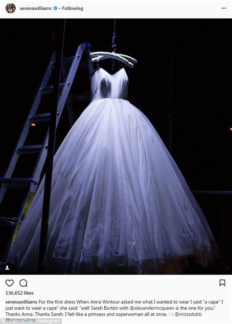 Serena Williams shares photo of wedding dress on Instagram ...