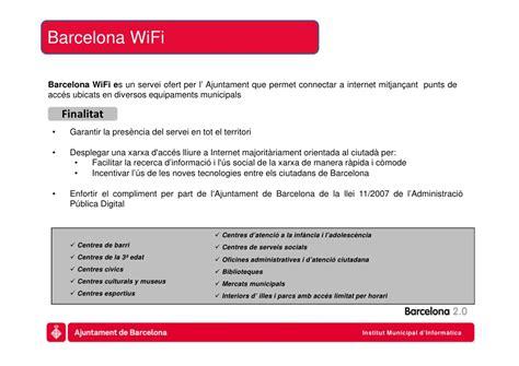 Serveis wifi - Ajuntament de Barcelona
