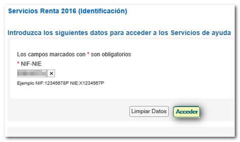Servicio tramitación de borrador/declaración  Renta WEB ...