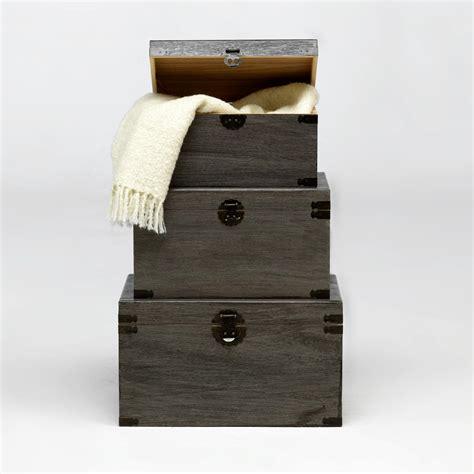 Set de Baules decorativos negros   Muebles baratos online