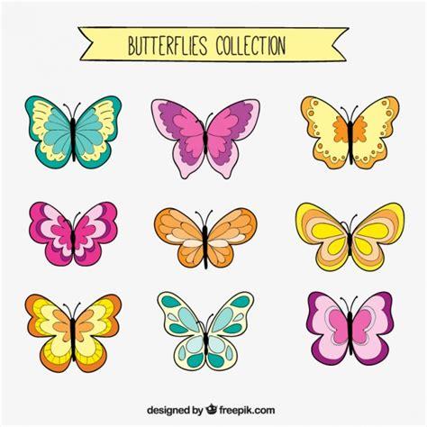 Set de dibujos de mariposas | Descargar Vectores gratis