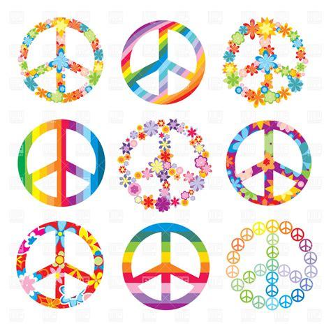 Set of cute peace symbols, 20331, Signs, Symbols, Maps ...