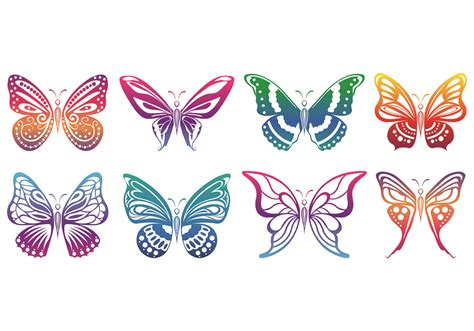 Set Of Mariposa Icons - Download Free Vector Art, Stock ...