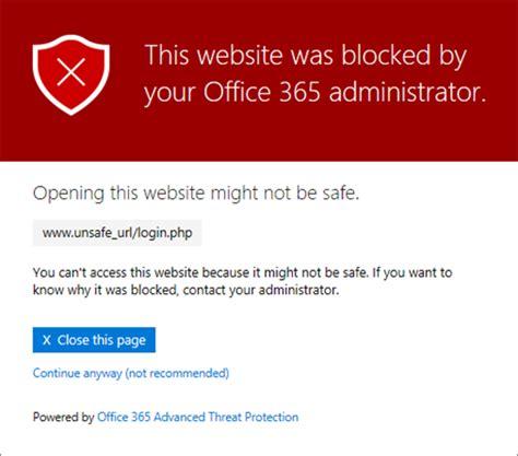 Set up a custom blocked URLs list using Office 365 ATP ...