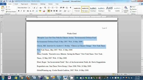 Setting your Essay to MLA Format in Word - YouTube