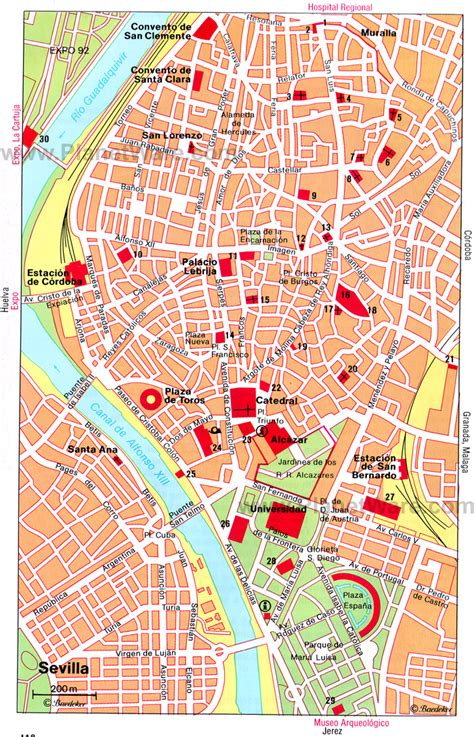 Sevilla Central Map - Tourist Attractions http://www ...