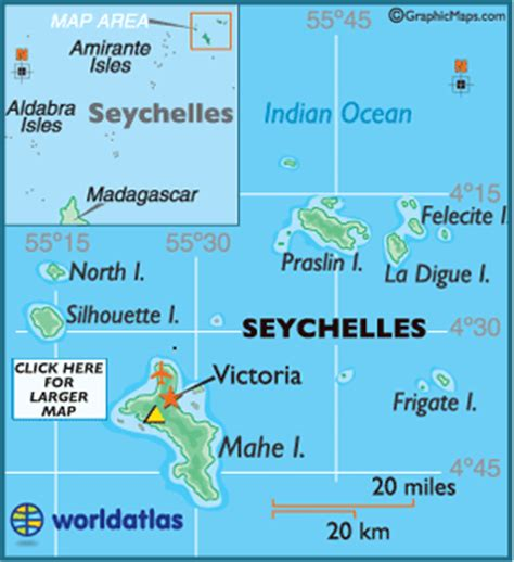 Seychelles Map / Geography of Seychelles / Map of ...
