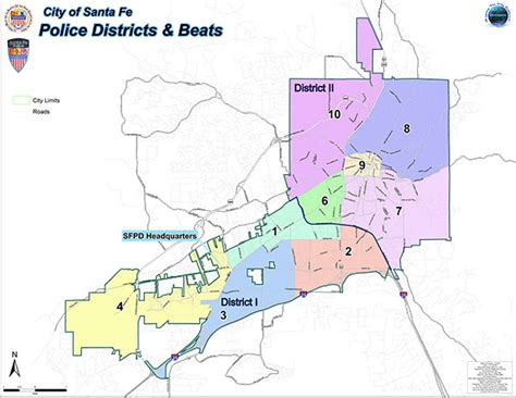 SFPD Patrol Area Map | City of Santa Fe, New Mexico