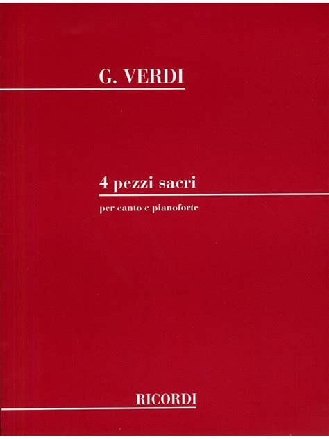 Sheet Music : Giuseppe Verdi: 4 Pezzi Sacri (Voice and ...