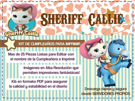 Sheriff Callie   Tarjetas de Cumple para imprimir