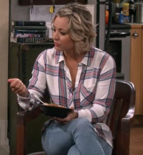 shirt, penny, plaid, big bang theory, kaley cuoco   Wheretoget