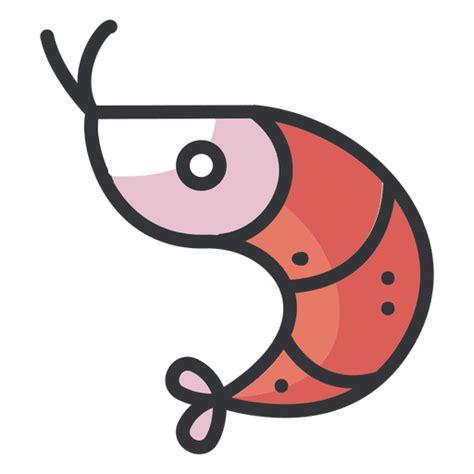 Shrimp flat cartoon icon   Transparent PNG & SVG vector