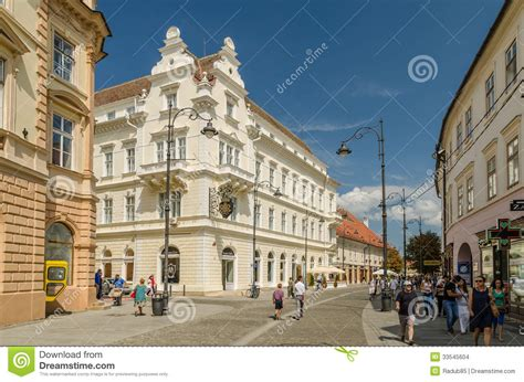 Sibiu City Downtown editorial stock image. Image of ...