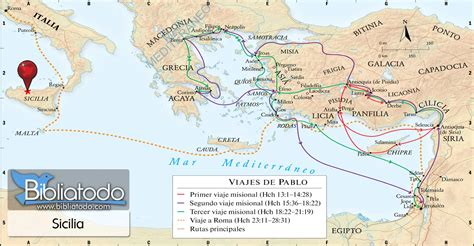 Sicilia - Mapa y Ubicación Geográfica