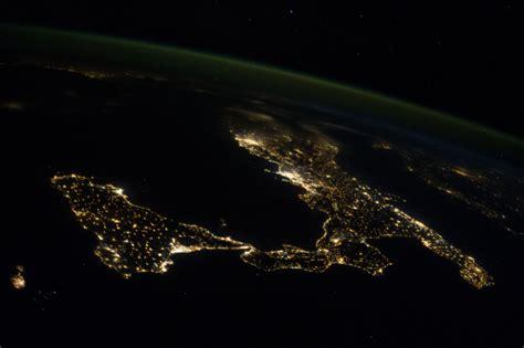 Sicily and Italy at Night   NASA