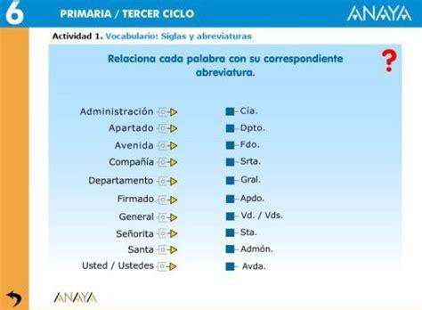 SIGLAS Y ABREVIATURAS | Actividades interactivas ...