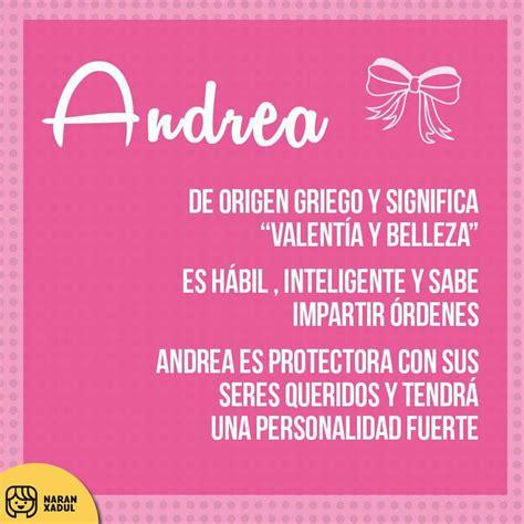Significado del nombre Andrea | Quotes | Pinterest ...