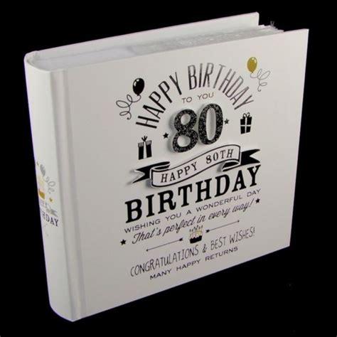 Signography Photo Album 4x6 80th Birthday