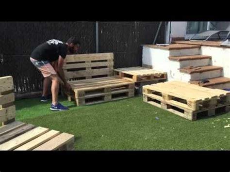 Sillones de palets paso a paso - YouTube | porche ...