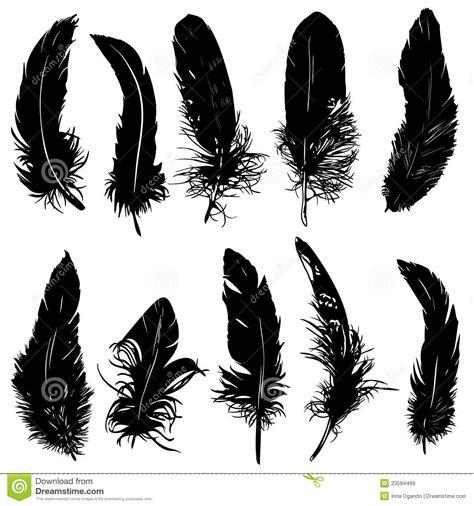 Silueta de las plumas. ilustración del vector. Ilustración ...